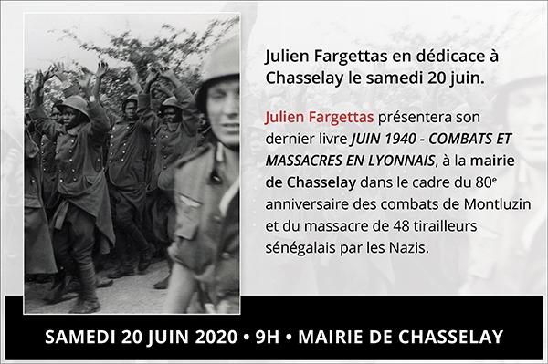 Julien Fargettas en dédicace à Chasselay le samedi 19 juin.