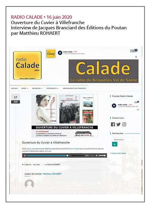 Ouverture du Cuvier à Villefranche - Radio Calade 16/06/20