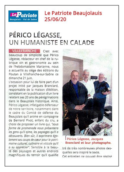 Périco Légasse, un humaniste en calade - Le Patriote - 25/06/20