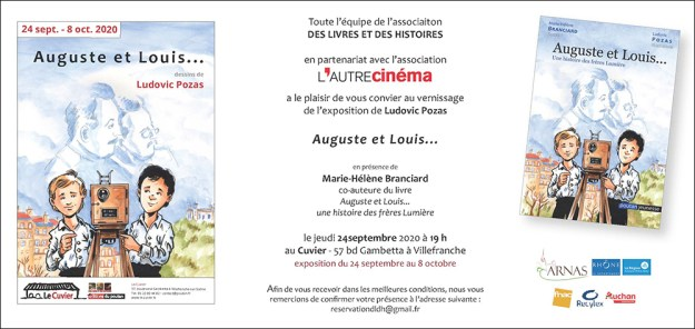 Invitation expo Auguste et Louis... une exposition de Ludovic Pozas au Cuvier!