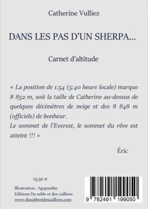 Dans les pas d'un Sherpa… de Catherine Vulliez 4e de couv