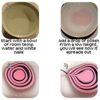 WATER MARBLE NAIL ART - HOW 2