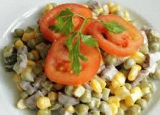 салат мясной с овощами фото