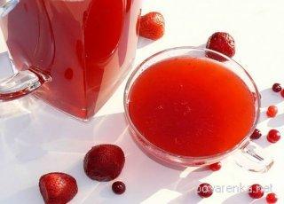 рецепт клубничный кисель