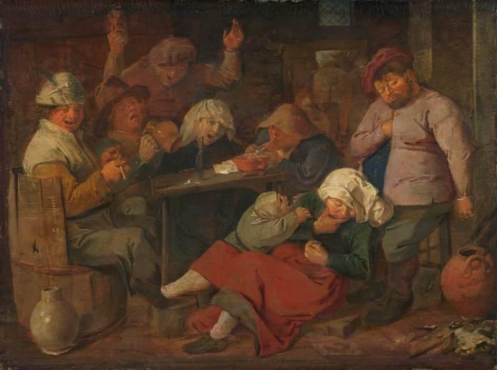 BROUWER, Adriaen Drunken Peasants 1620s.jpg