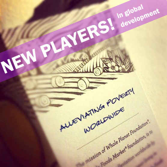 New Players! In global development