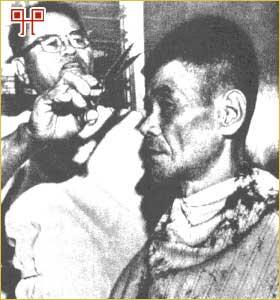 Shoichi Yokoi na šišanju nakon predaje