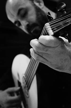 Libanonski oudist Mahmoud Turkmani tijekom koncertnog nastupa