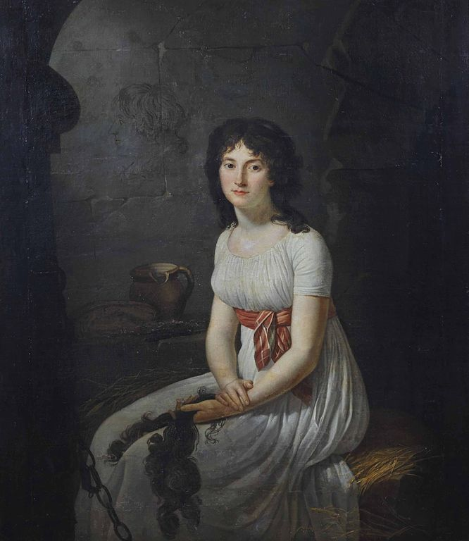 Građanka Tallien u ćeliji zatvora La Force, Jean-Louis Laneuville, 1796.