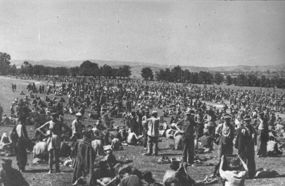 Zarobljeni Nijemci, ustaše, četnici i domobrani, Maribor, 1945.
