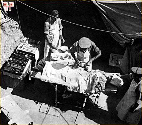 Saveznička improvizirana rovovska bolnica