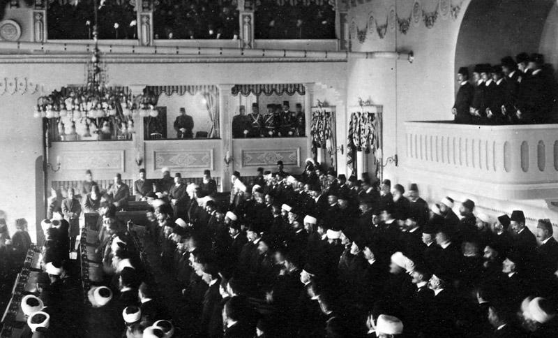 Zasjedanje parlamenta u prosincu 1908. godine