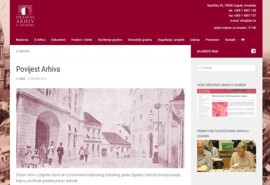 Drzavni Arhiv U Zagrebu Raspisuje Nagradni Natjecaj Za Najbolji