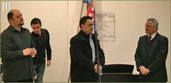 Voditelj programa Miljenko Ovčar, Kruno Kovačić iz ReplikArta i Vladimir Kalšan, ravnatelj muzeja