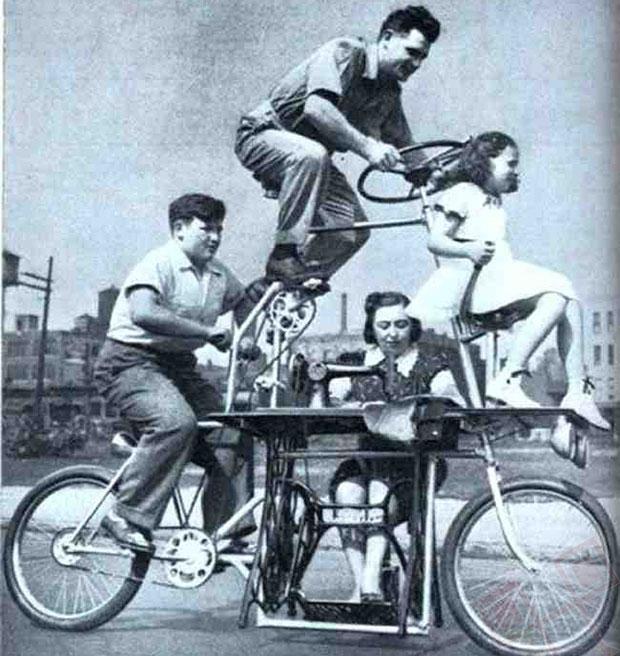 Obiteljski bicikl sa šivačom mašinom (1939.)