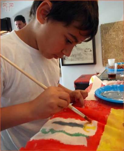 Oslikavanje tkanine za izradu antičkog veksiluma