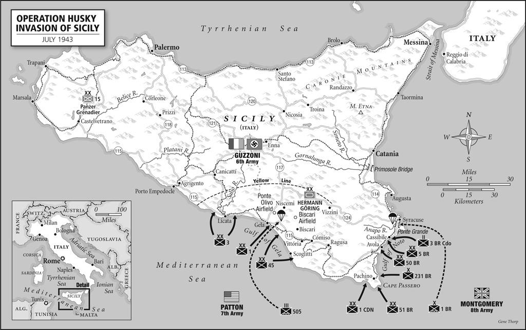 saveznička iskrcavanja na Siciliju