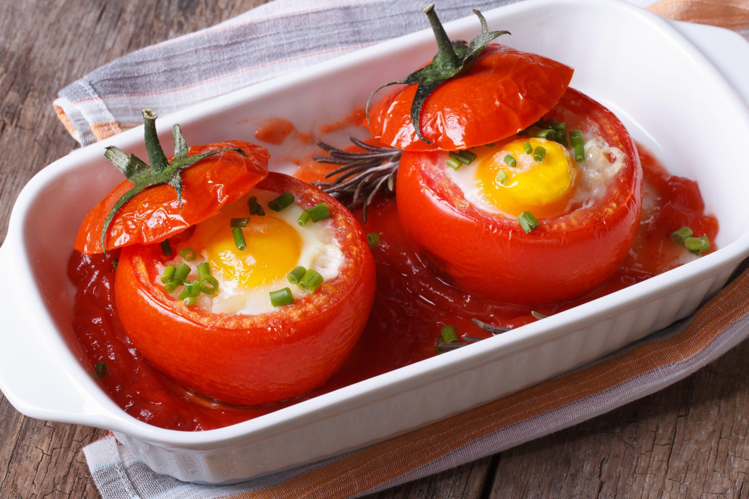 Помидоры, фаршированные брынзой и яйцом (3156) | Povkusu.com