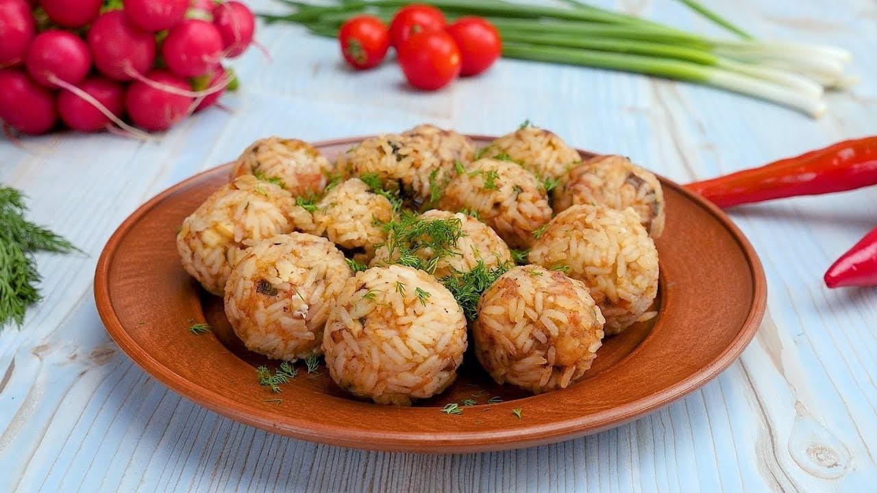 Ленивые фрикадельки из курицы и риса (3512)   Povkusu.com