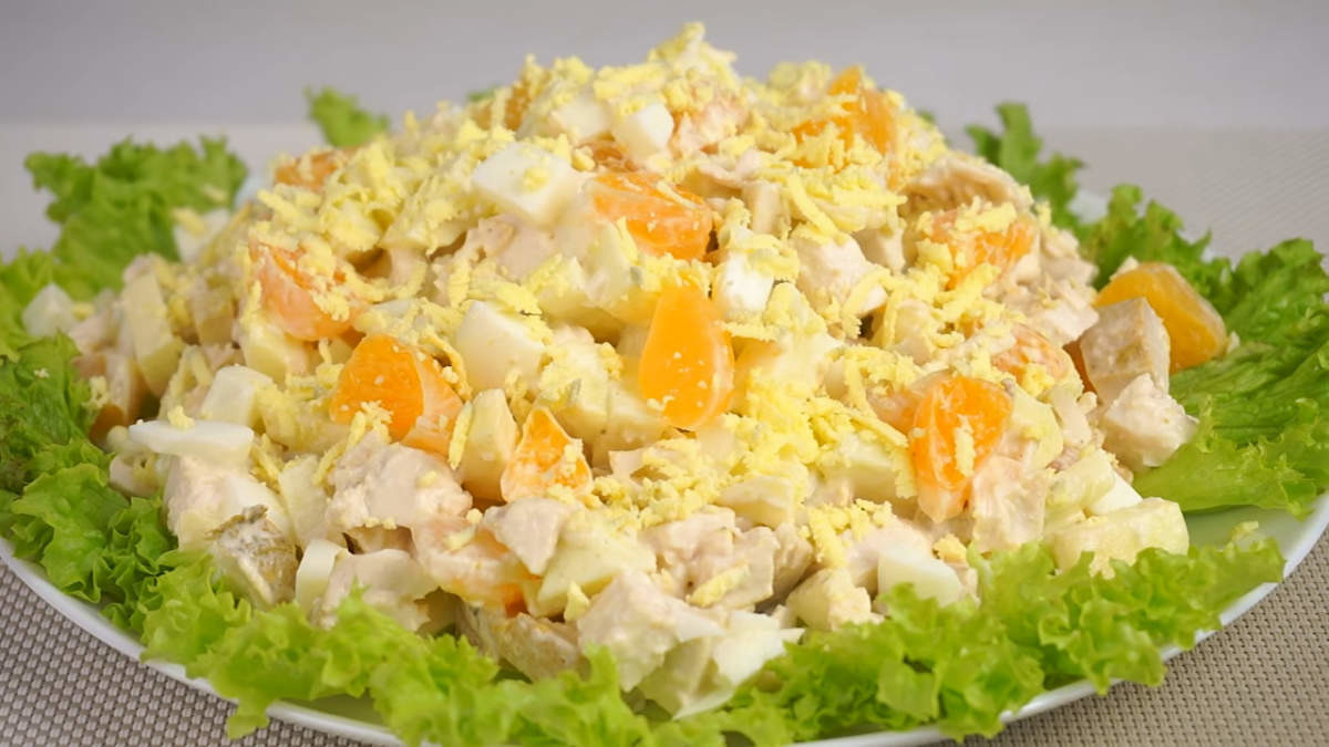 Салат с курицей и мандаринами (4919) | Povkusu.com