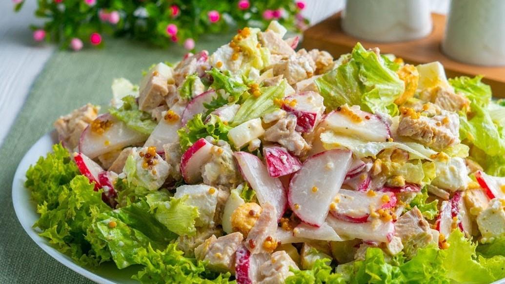Салат с курицей и редисом (4780) | Povkusu.com