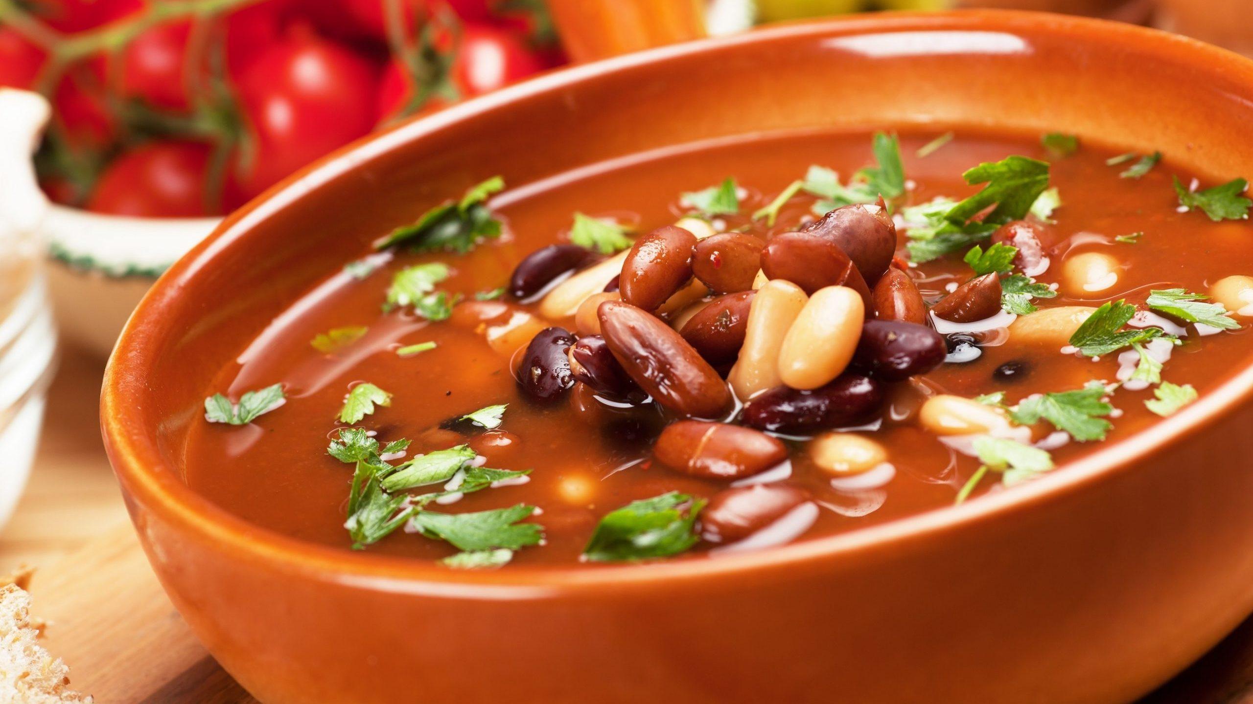 Суп с фасолью и копчёным мясом (4684) | Povkusu.com