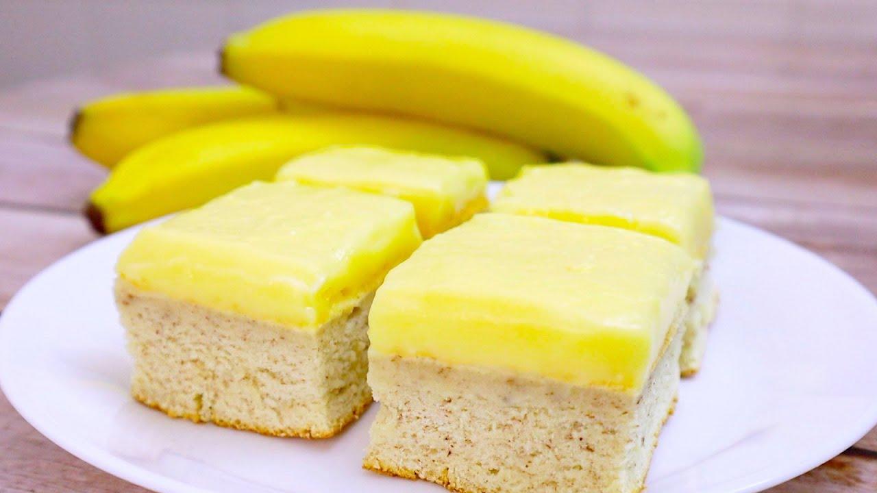 Банановый пирог с заварным кремом (7149) | Povkusu.com