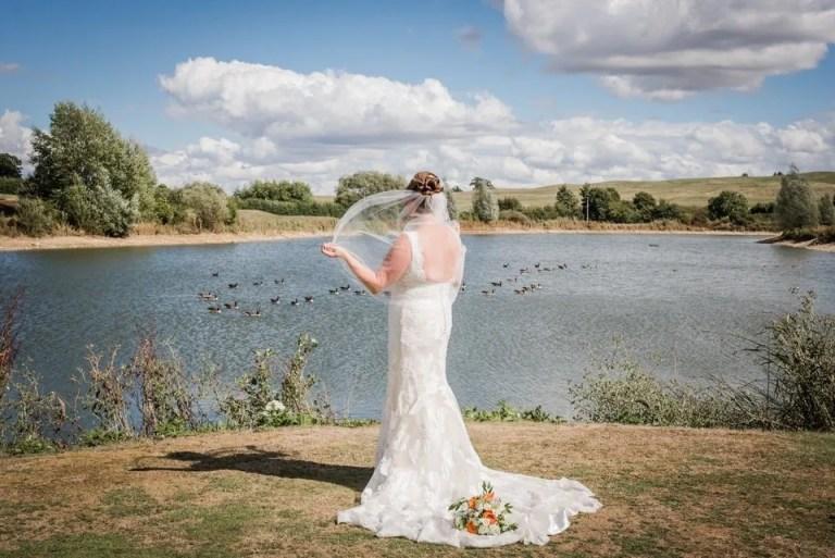 Bride photos at Cumberwell Park wedding venue