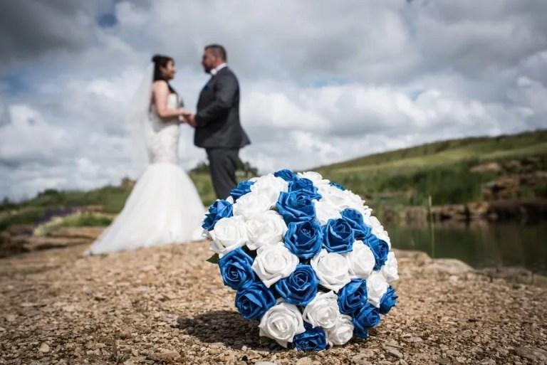 Bride and groom bouquet at Cumberwell Park wedding venue