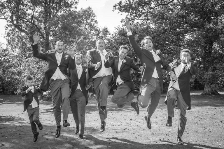 Groomsmen at Cumberwell Park wedding venue