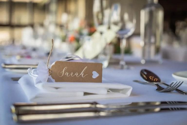 Cumberwell Park wedding venue table settings