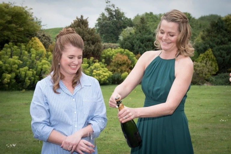 Cumberwell Park wedding champagne