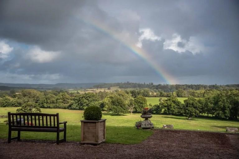 Eastwood Park Wedding rainbow