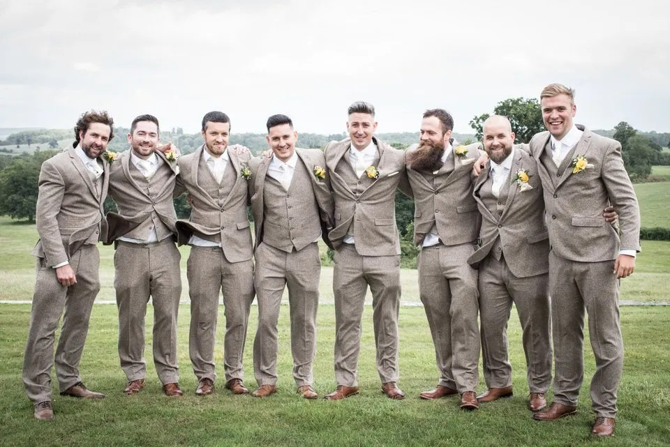 Groomsmen at Eastwood Park in South Gloucestershire