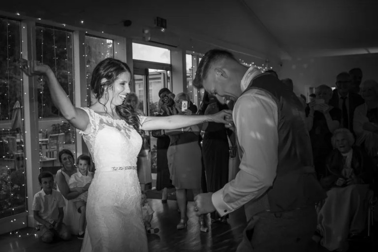 Eastwood Park wedding couple first dance