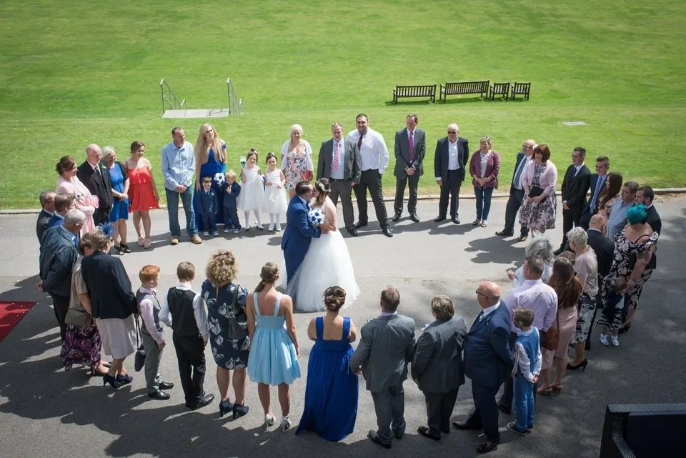 Wedding heart photo at the Grange Mecure Hotel in Bristol