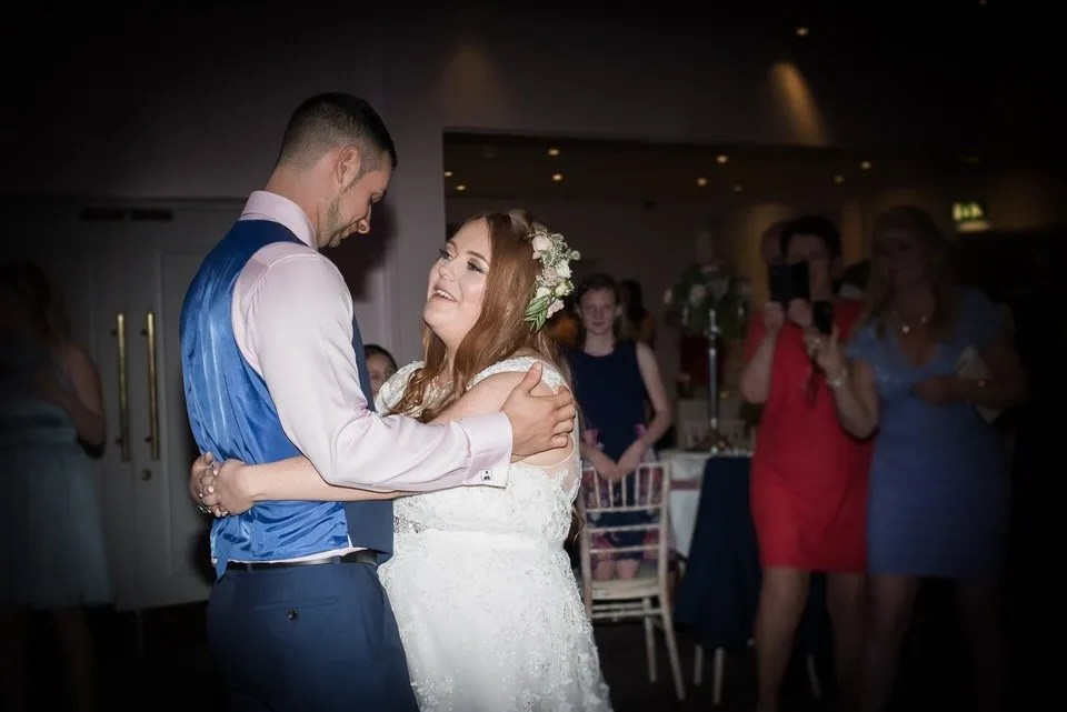 Wedding first dance at the Grange Mecure Hotel in Bristol