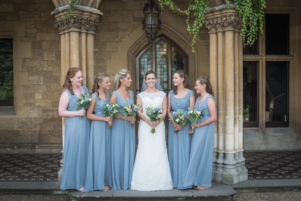 Bridal party at at Manor by the Lake in Gloucestershire