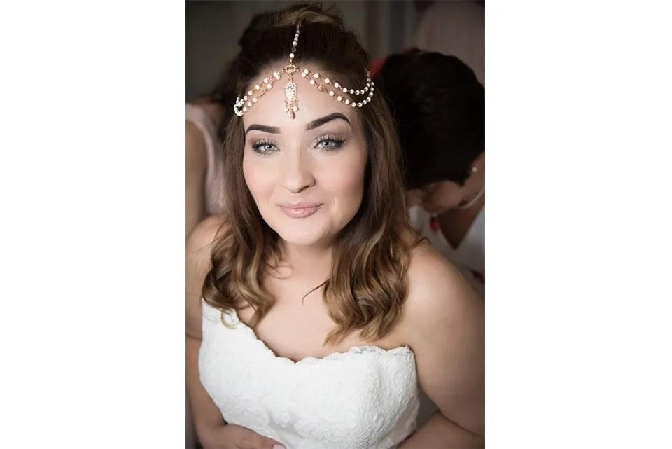 Bridal make up at Mells Tithe Barn in Somerset