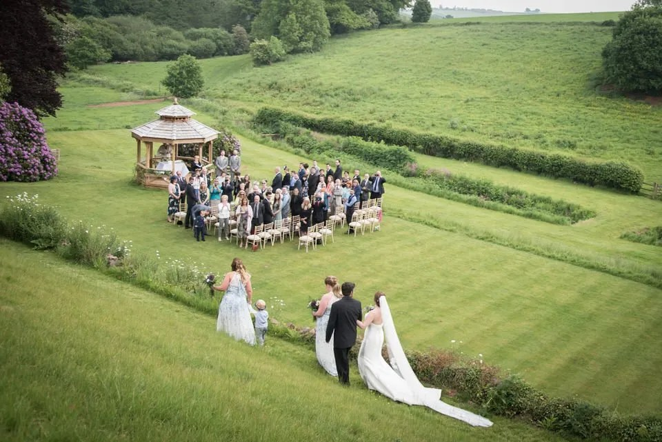 Wedding party at Pashcoe House in Devon