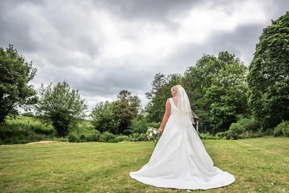 Bride at Priston Mill in Somerset