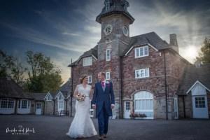Beautiful evening wedding light for photography
