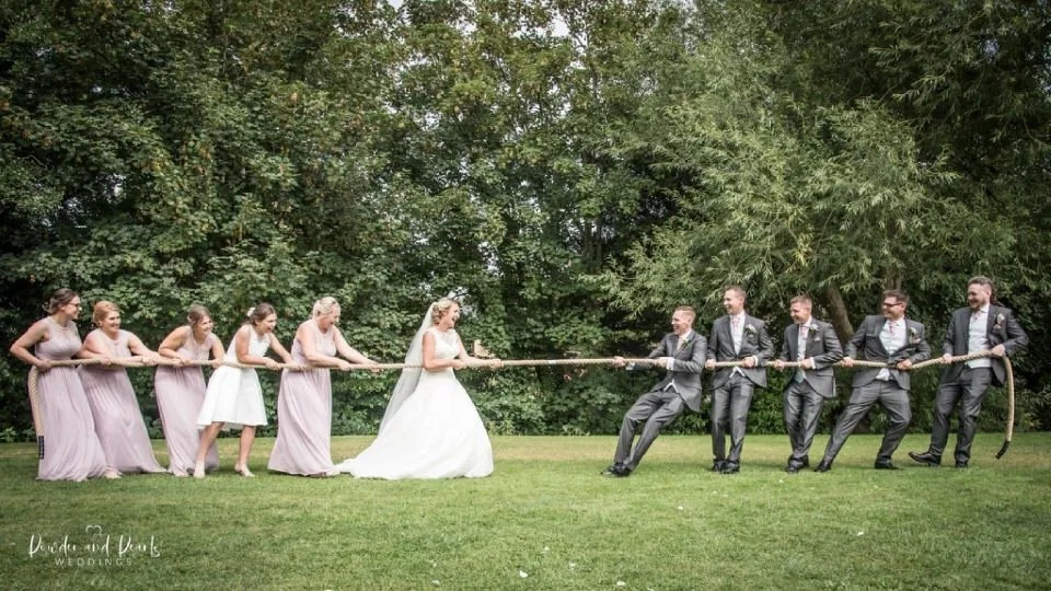 Wedding games with the bride and groom
