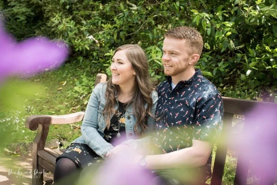 Couple enjoying a wedding engagement shoot