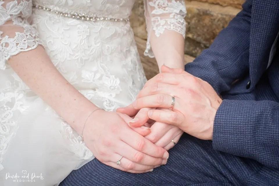 Wedding rings at Dillington House