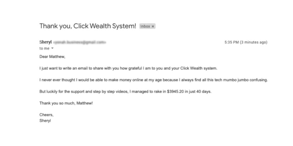 Click Wealth System program reviews