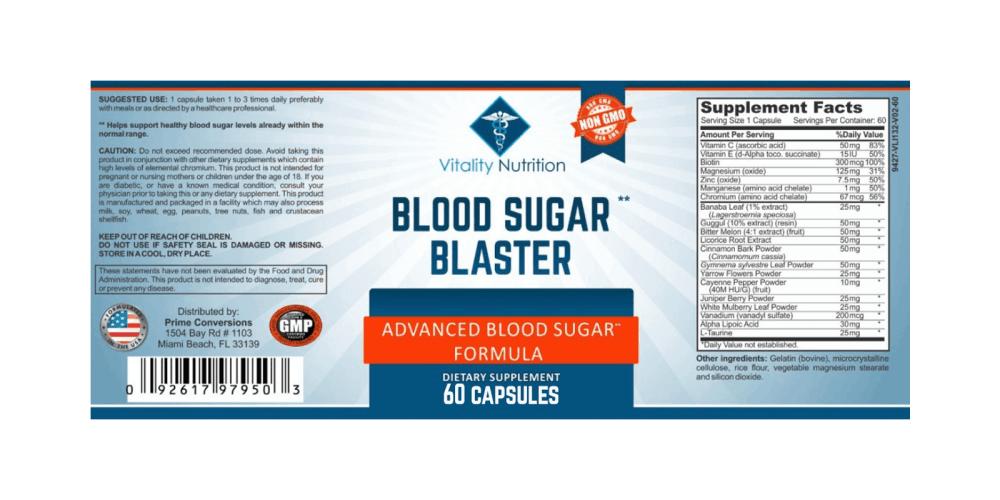 Blood Sugar Blaster Dosage
