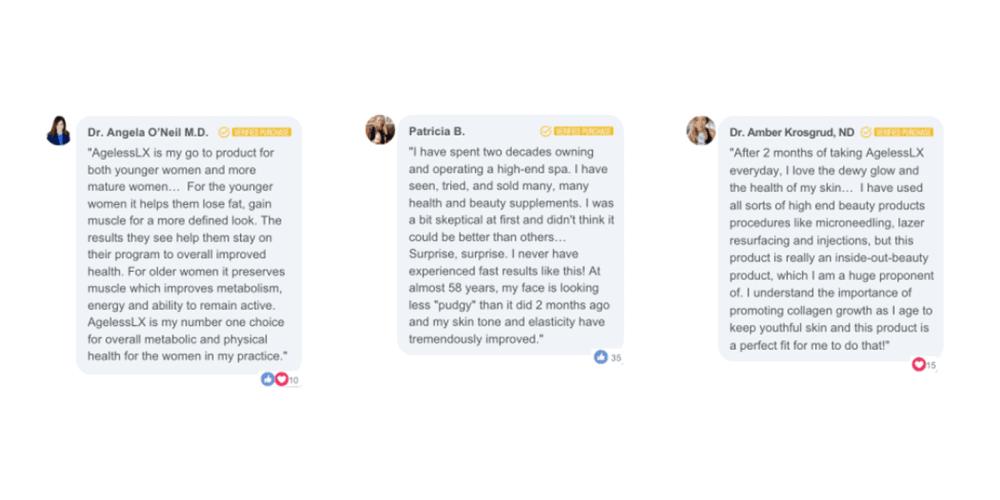Ageless LX customer reviews