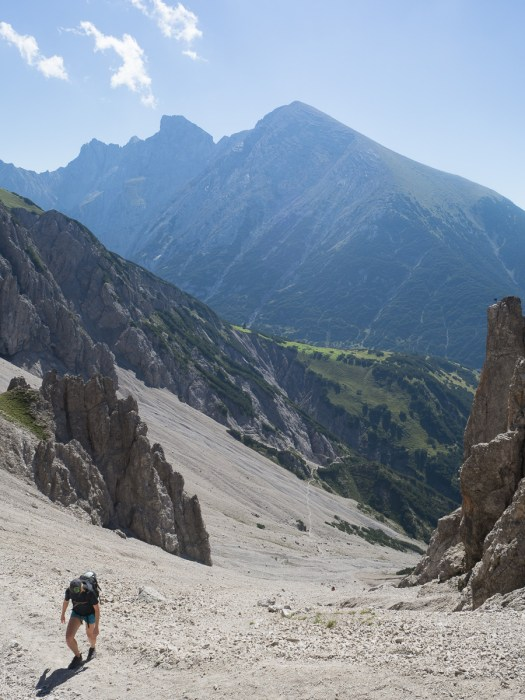 Looking back from the col