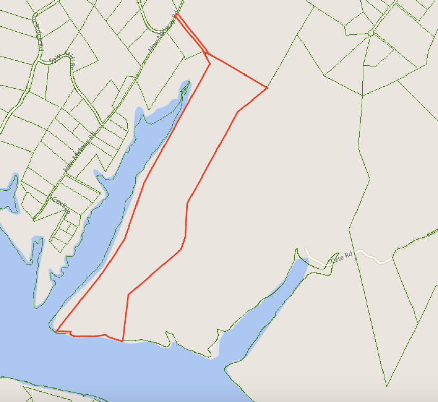 New Midway Road - Outline Map